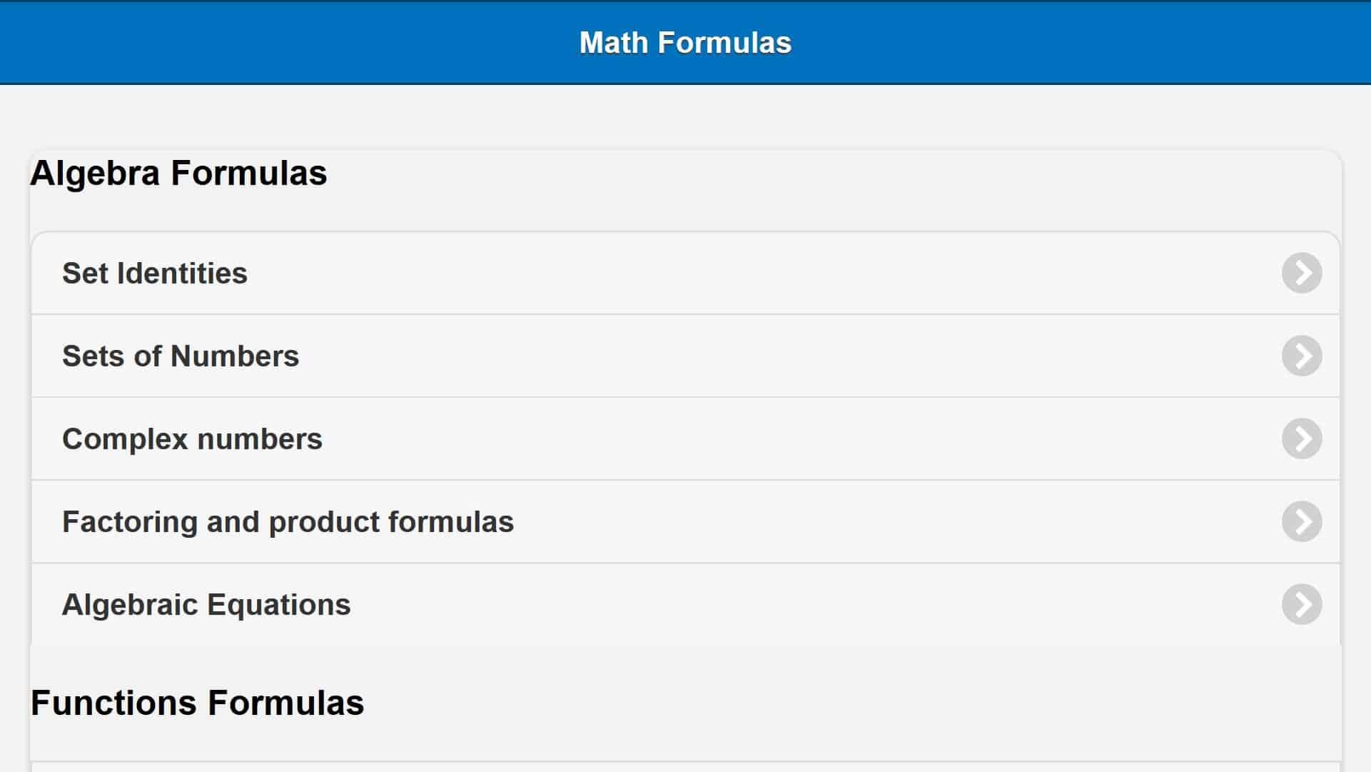Aplikasi All Math Formula