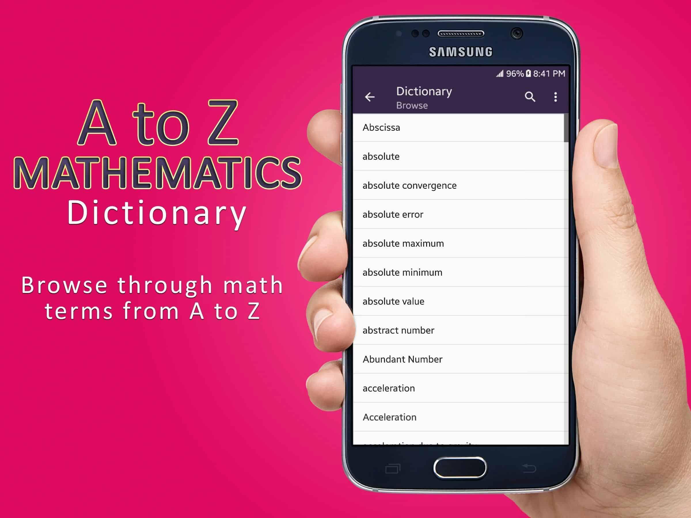 Aplikasi Mathematics Dictionary