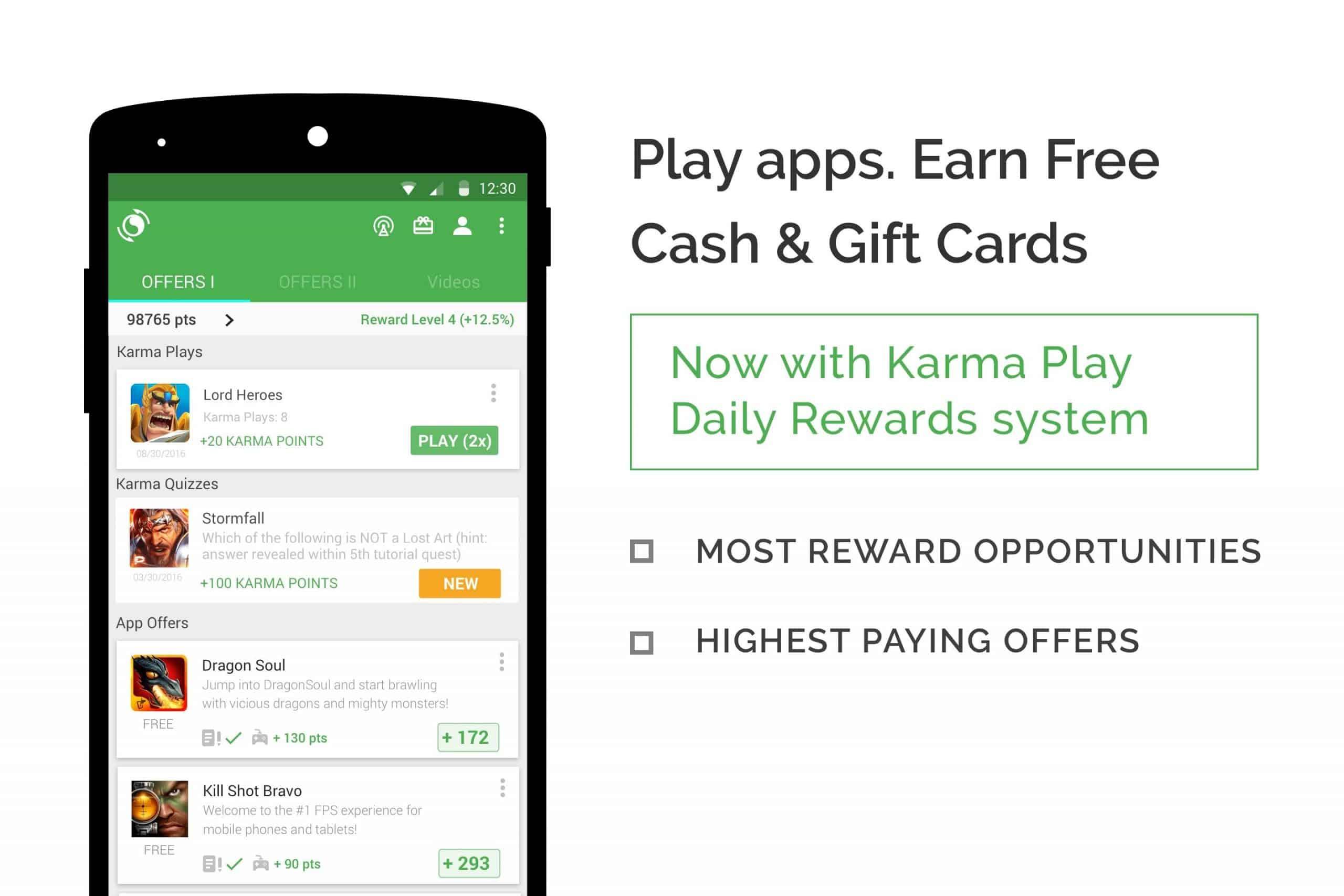 Aplikasi Penghasil Uang AppKarma Reward dan Gift Card