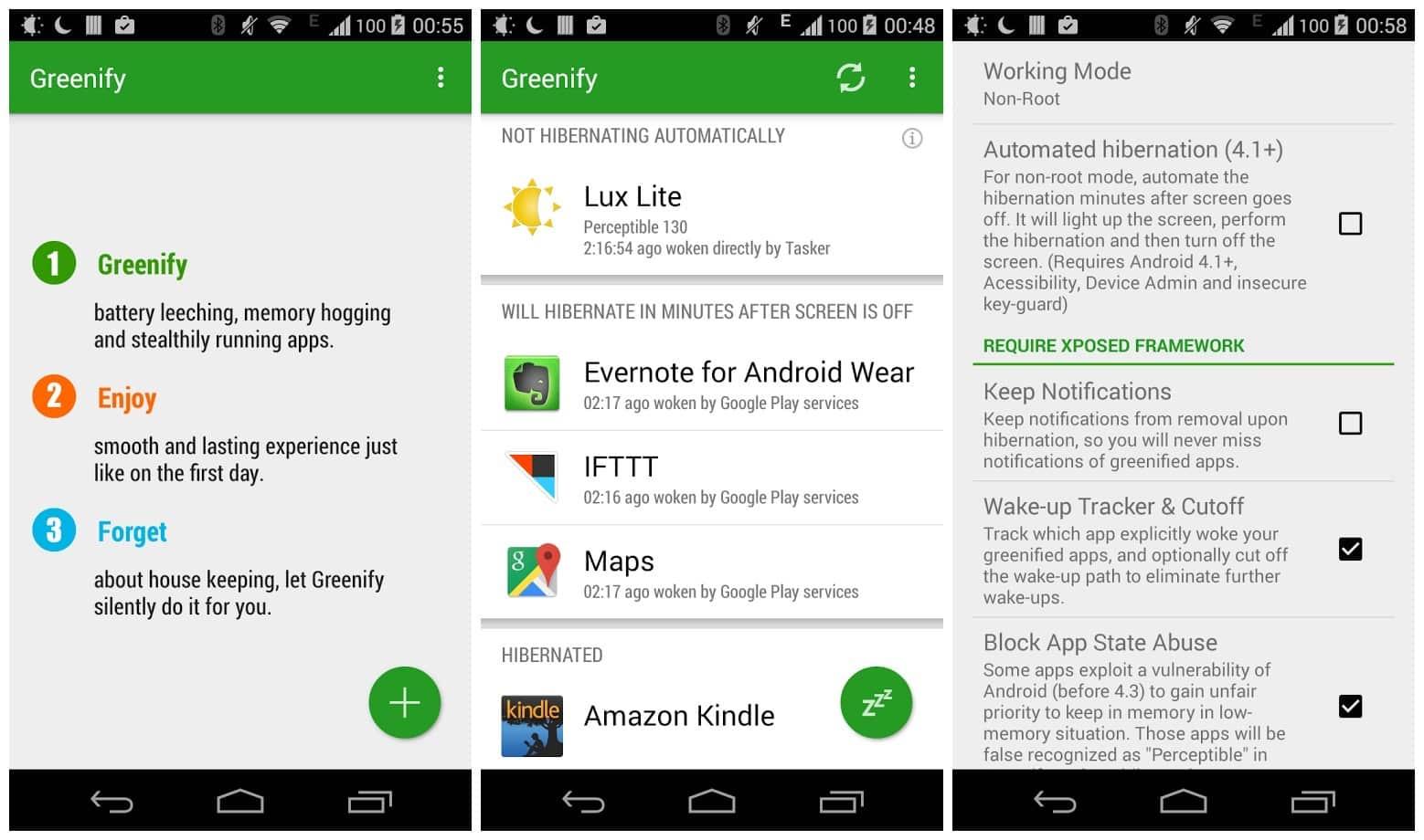 Greenify App Root