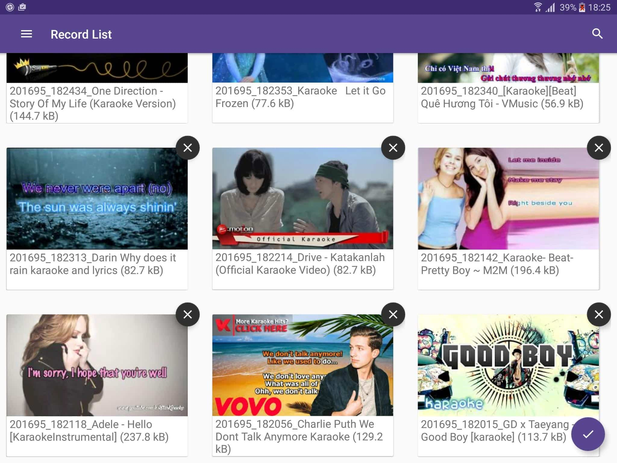 Karaoke Secara Online: Record - Aloha Std