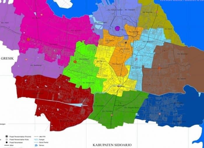 Gambar Peta Kota Surabaya