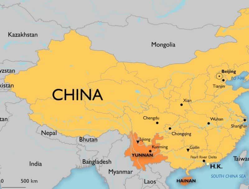 Peta China Beserta Sejarah Geografis Fisiografis Dan Sda