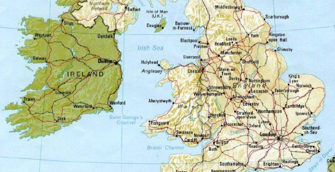 Peta Inggris Beserta Sejarah, Geografis, Serta Wisata (Paling Lengkap) 1