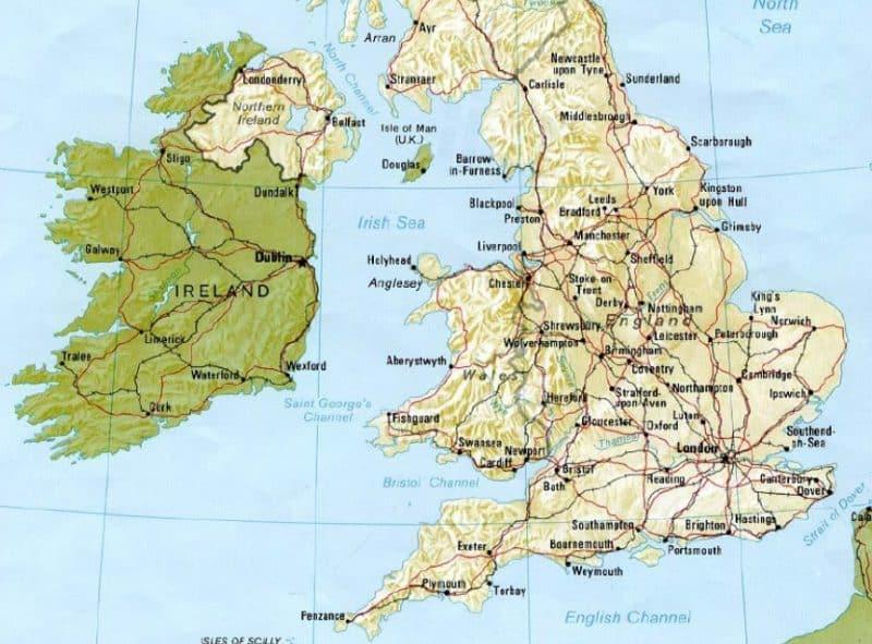 Peta Inggris Beserta Sejarah, Geografis, Serta Wisata (Paling Lengkap)