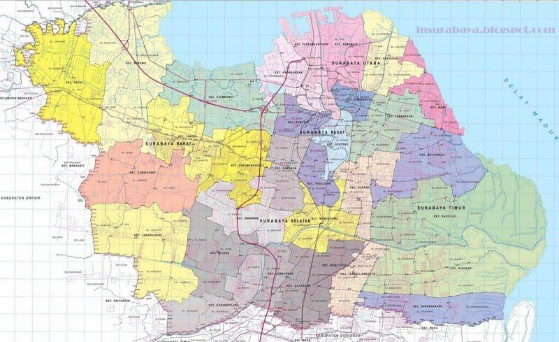 Peta Surabaya (lengkap dengan Penjelasan dan Gambar)
