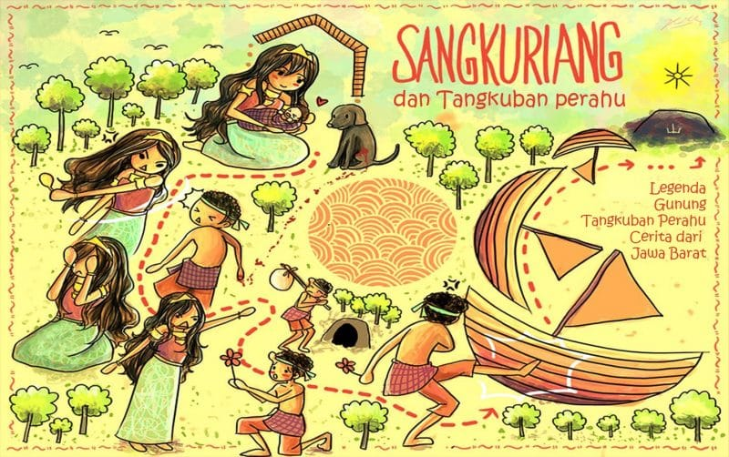 Cerita Rakyat Nusantara Gunung Tangkuban Perahu