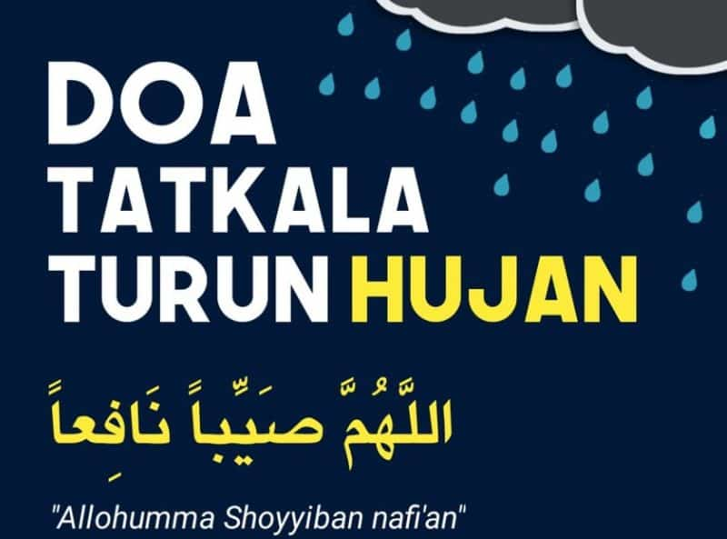 Bacaan Doa Ketika Hujan Turun Beserta Arti, Latin dan Arab