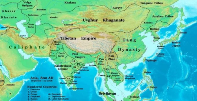 Peta Benua Asia Lengkap besarta Geografis dan Sejarahnya 4