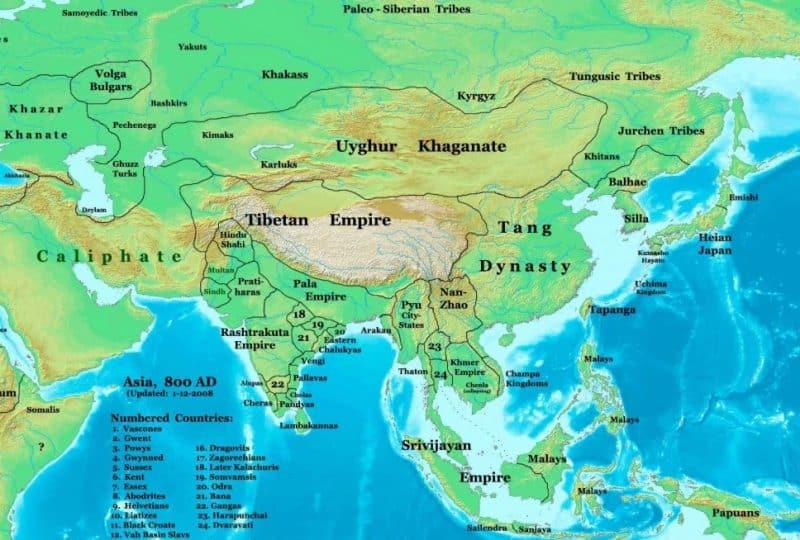 Peta Benua Asia Lengkap besarta Geografis dan Sejarahnya