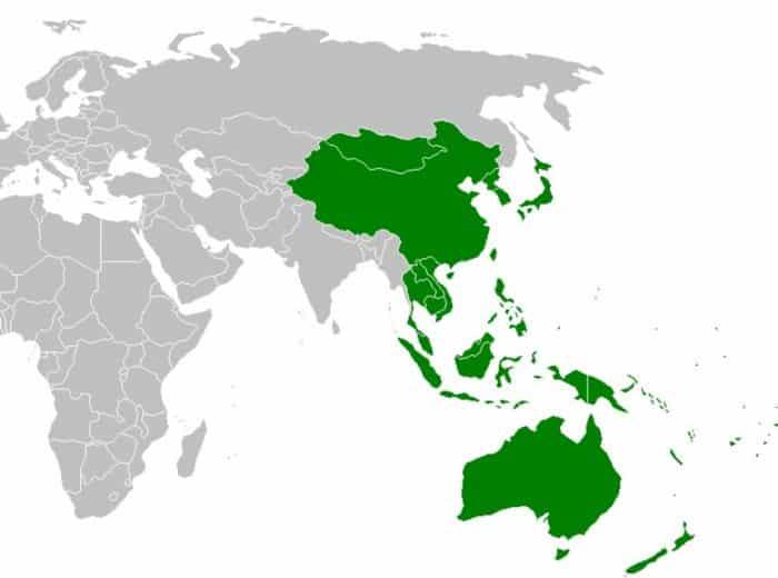 Pembagian Wilayah di Benua Asia