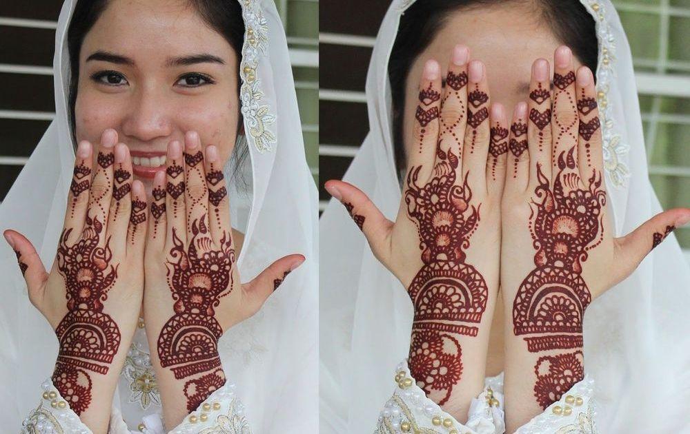 Motif Henna dengan Pola Cinta