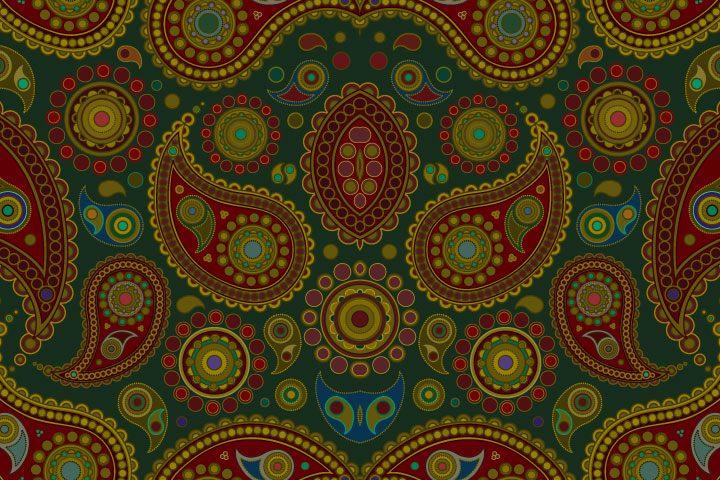 Ragam Motif Geometris Daun