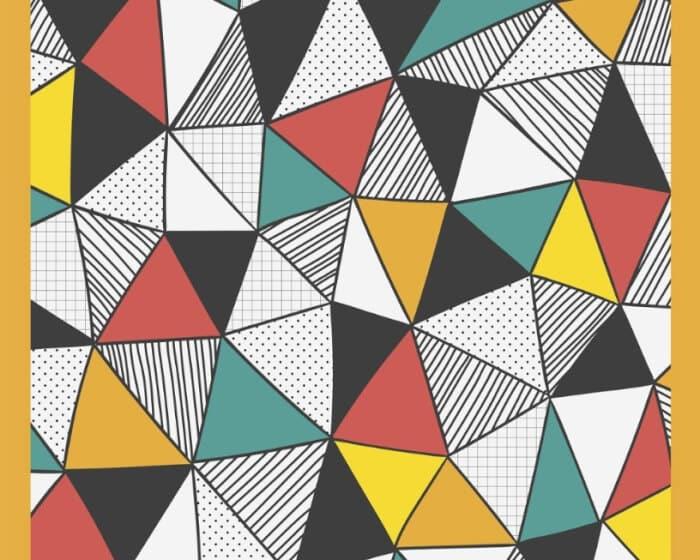 Ragam Motif Geometris Hitam Putih