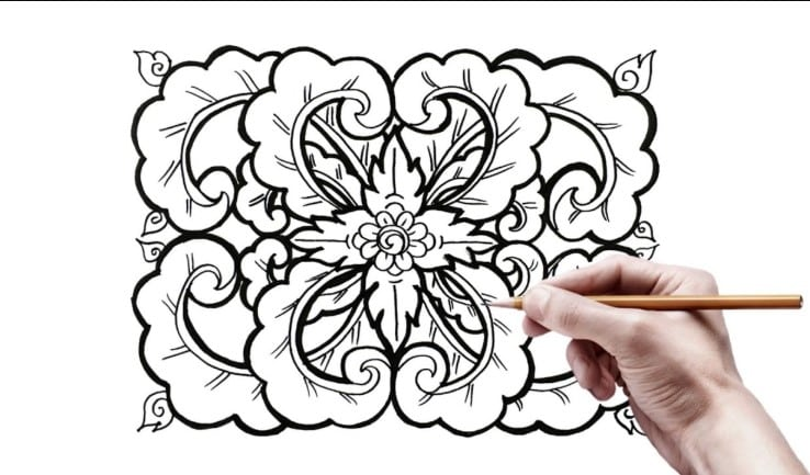 20+ Motif Geometris : Batik, Belah ketupat Dang Bayak Lagi (Super Lengkap)