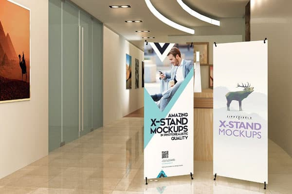 2. Ukuran X-banner Indoor