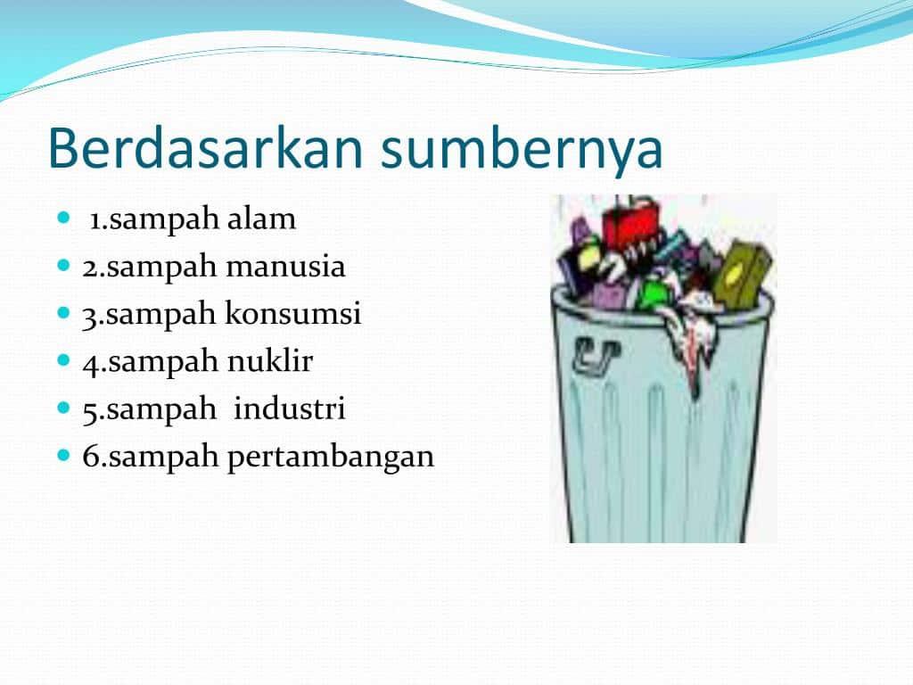 3. Jenis Sampah Berdasarkan Sumbernya