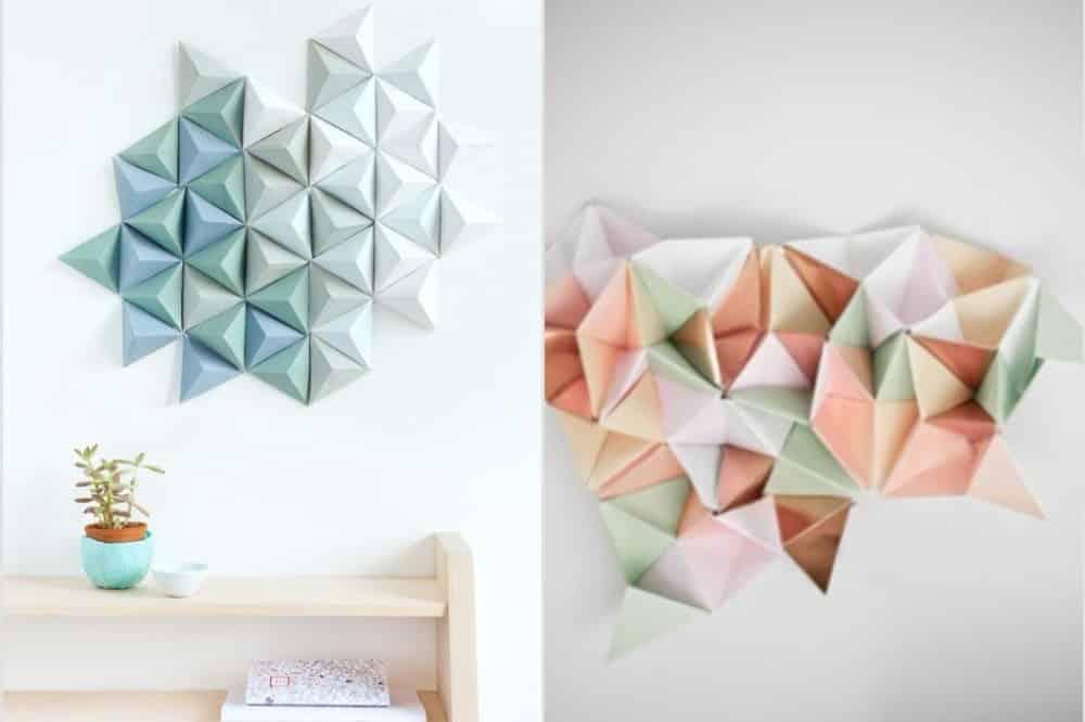 3. Hiasan Kamar 3d Menggunakan Kertas Origami