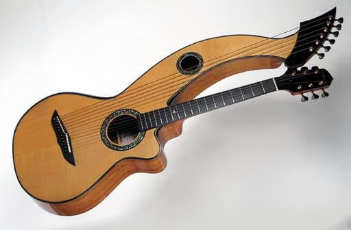 Alat Musik Petik Harpa Gitar