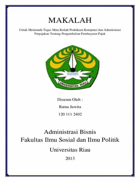 Contoh Pembuatan Cover Makalah Islam