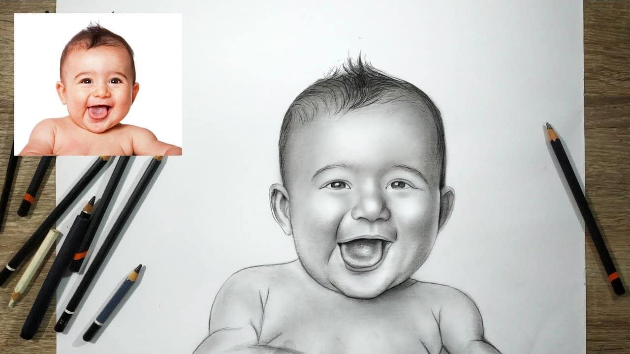Gambar Sketsa Wajah Anak Laki-Laki