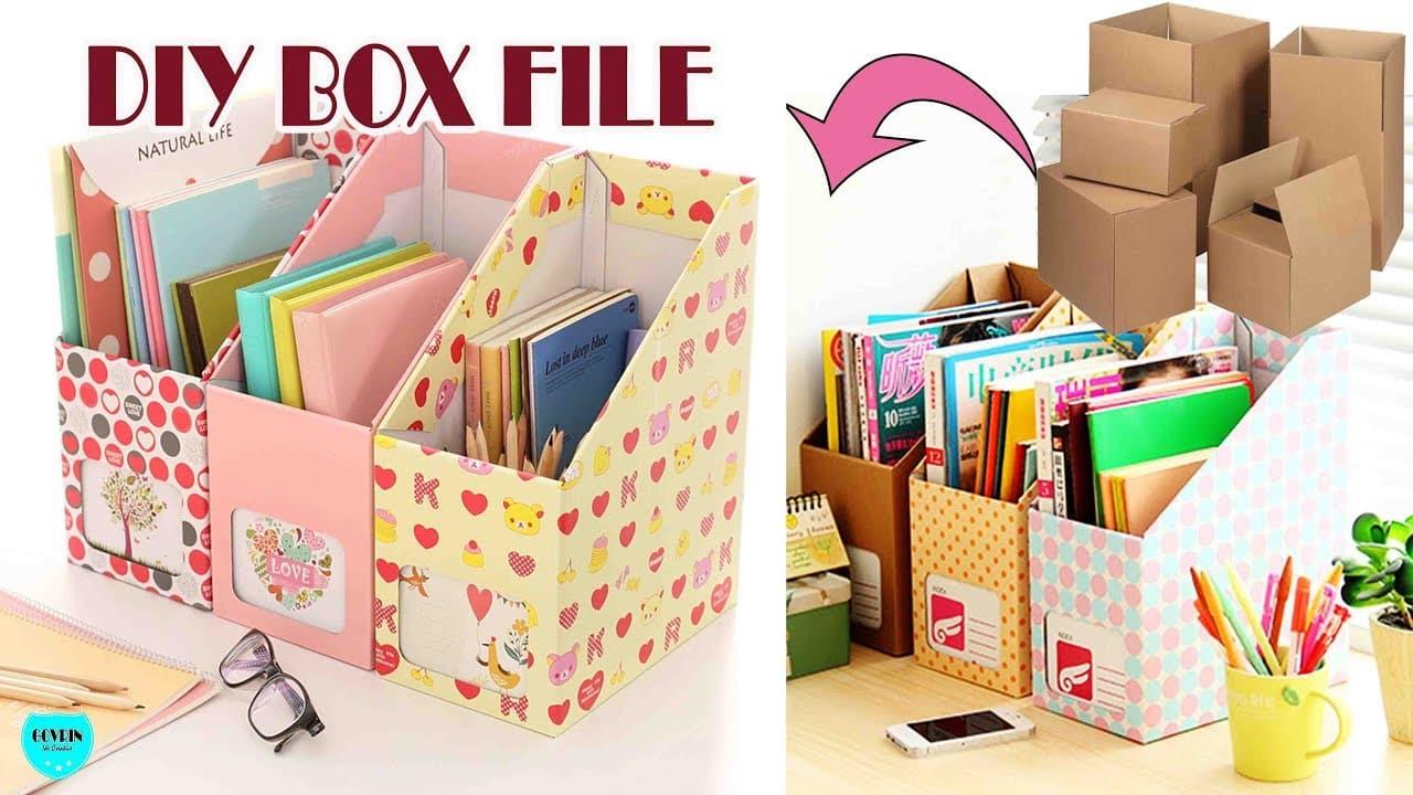 Membuat Box File Dari Kardus