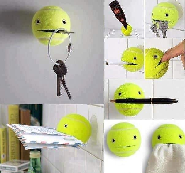 Menyulap Bola Tenis Menjadi Hiasan