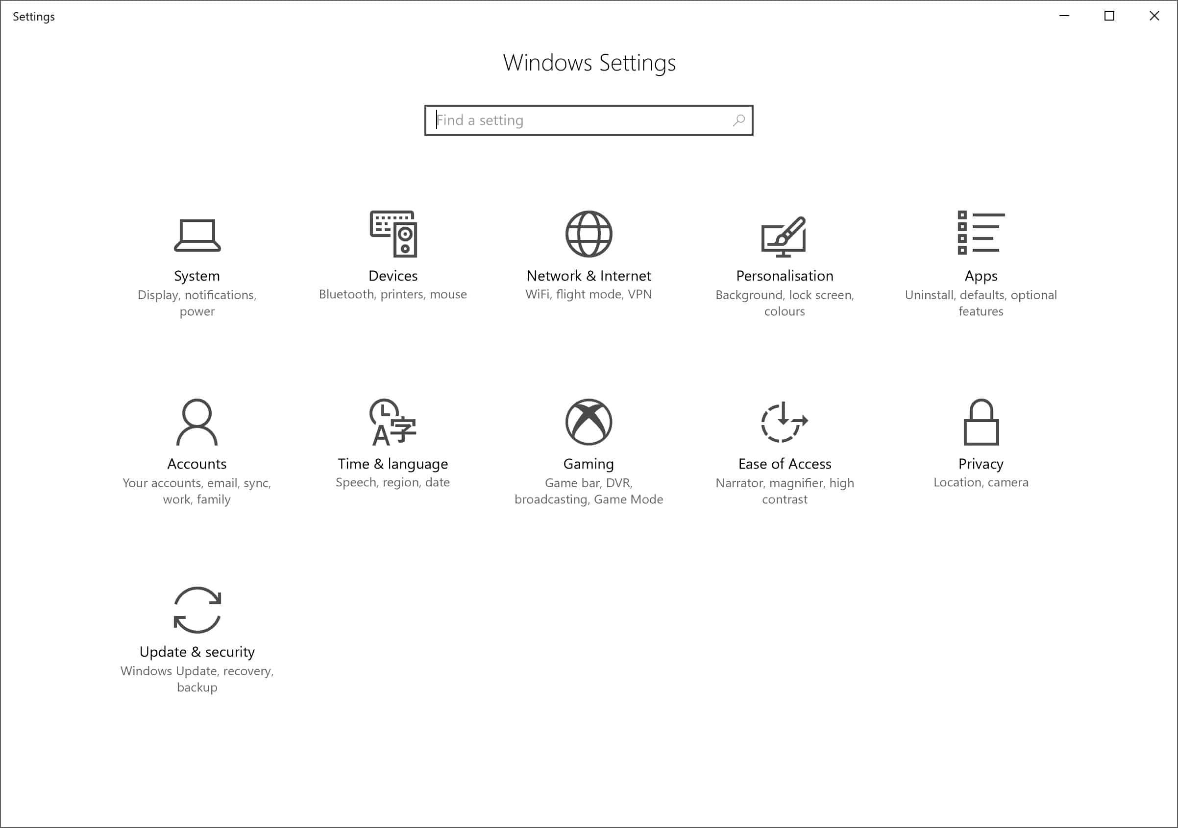 Akan ditampilkan beberapa pilihan menu, klik Update and Security