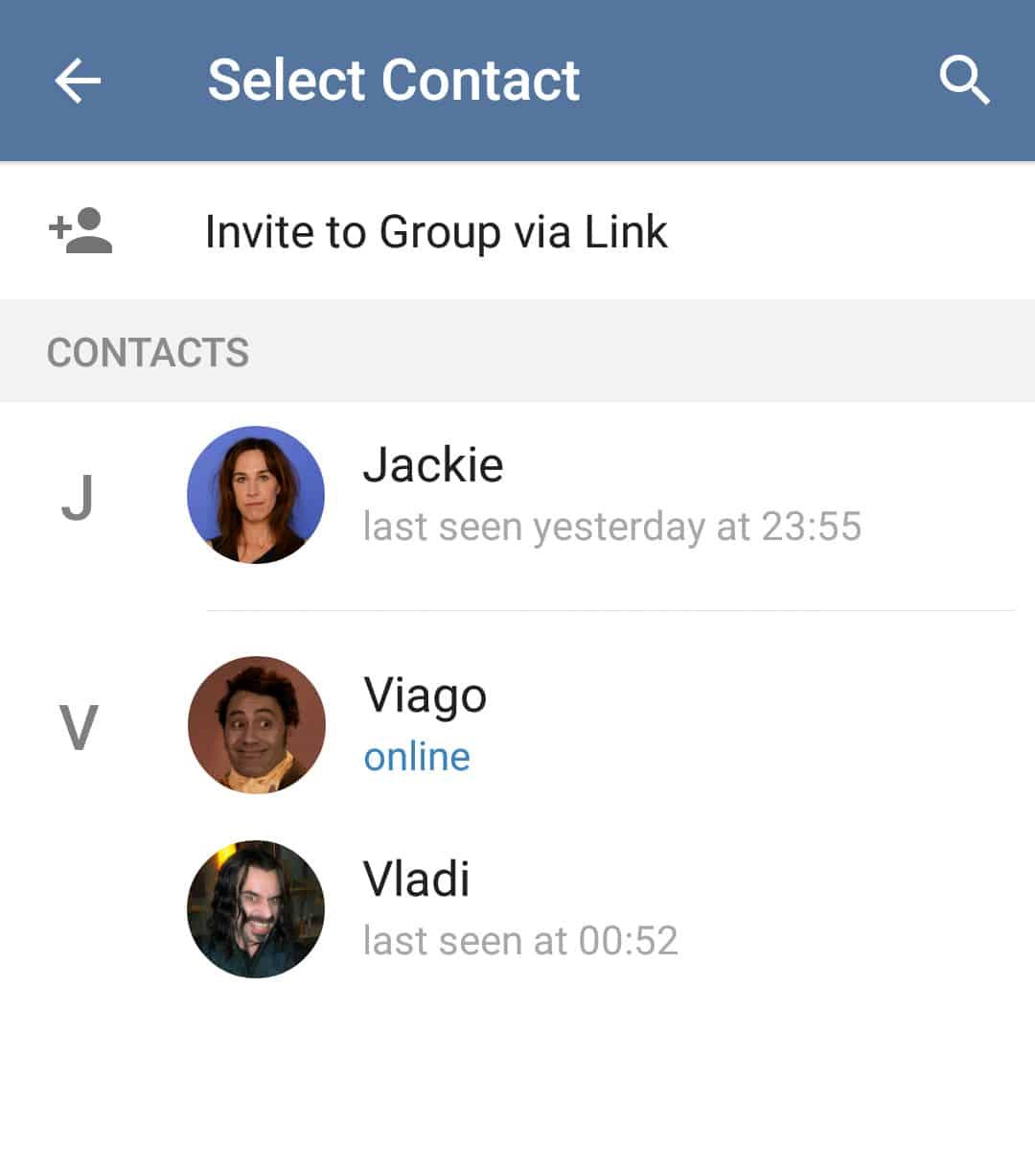 Anda akan diminta untuk mengisi nama grup yang akan dibuat