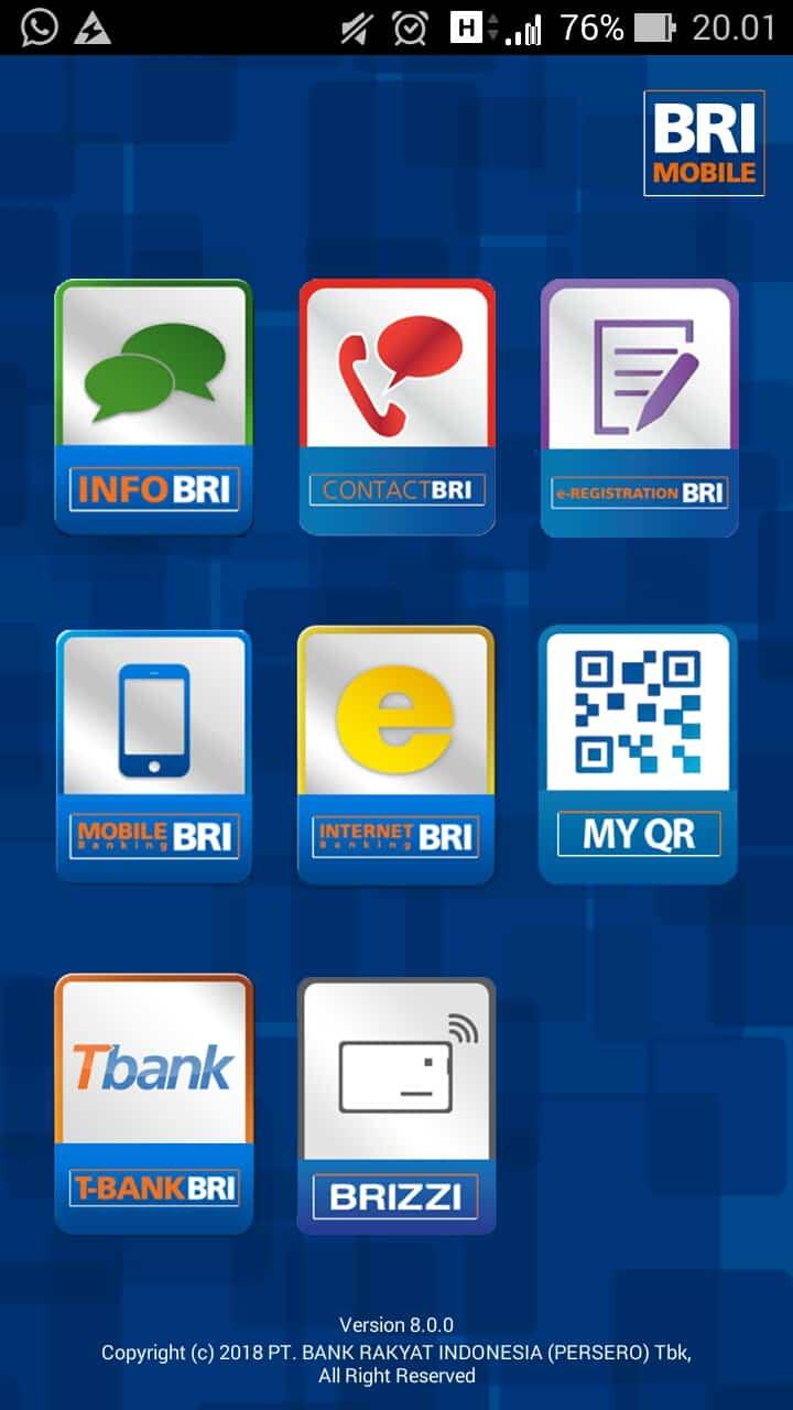 Buka aplikasi mobile banking BRI yang sudah terinstall di smartphone Anda