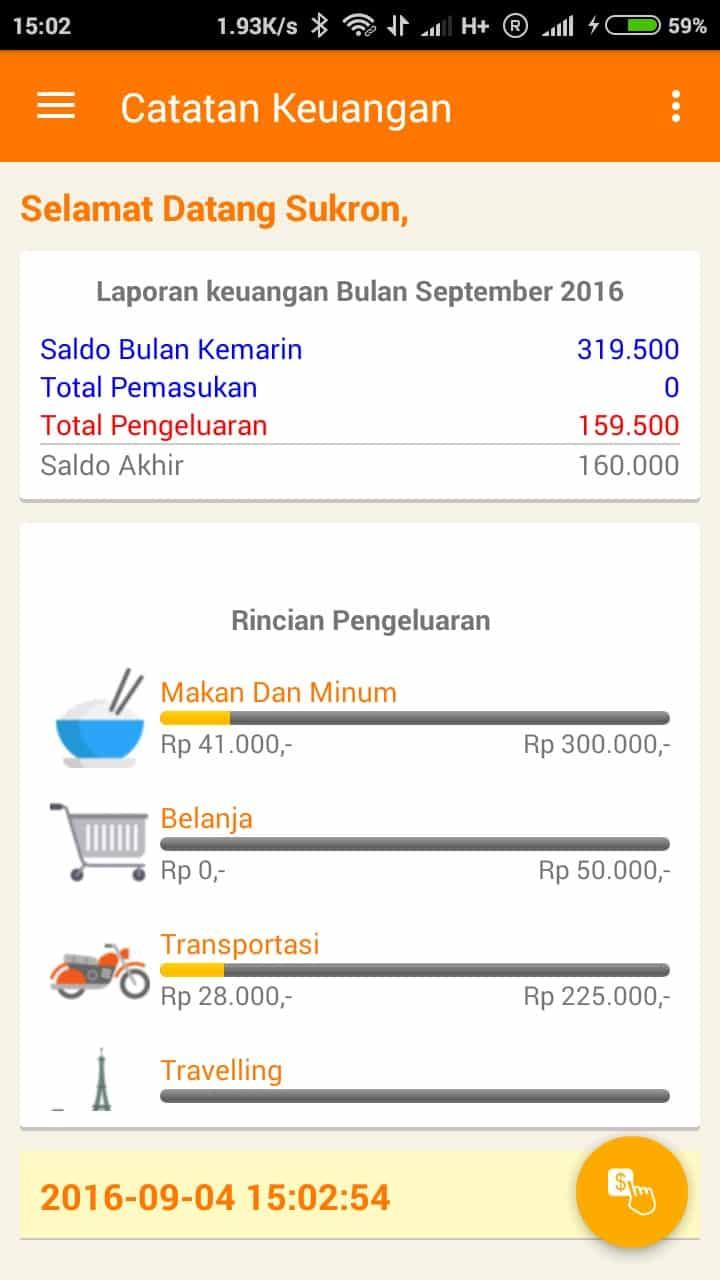Catatan Keuangan SukronMoh