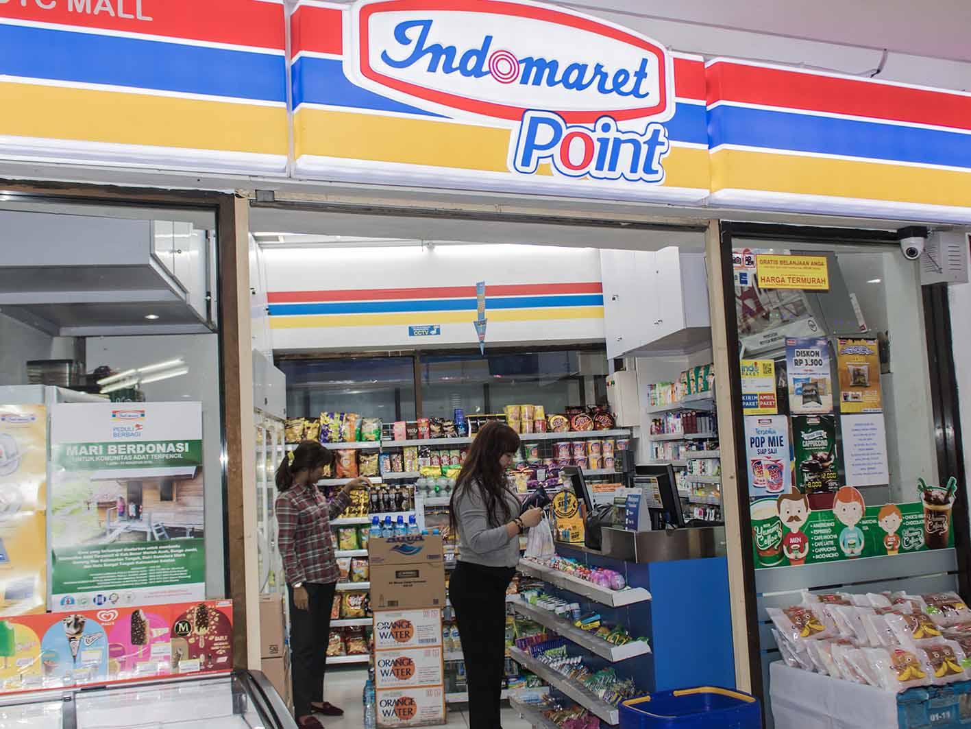 Datangi salah satu gerai Alfamart Indomaret terdekat di lingkungan Anda.
