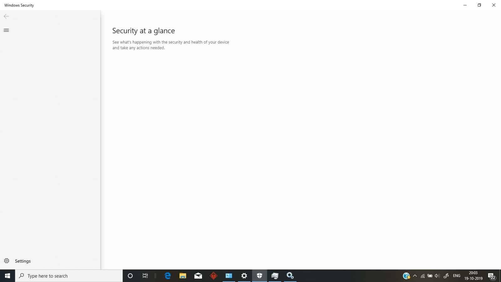 Klik menu Start pada desktop, ketikkan Windows Security lalu Windows Defender