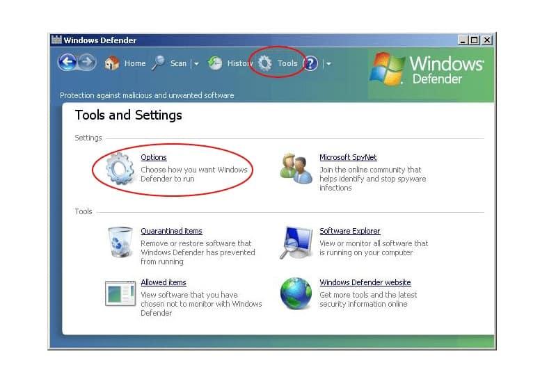 Klik menu option, kemudian Administrator Option