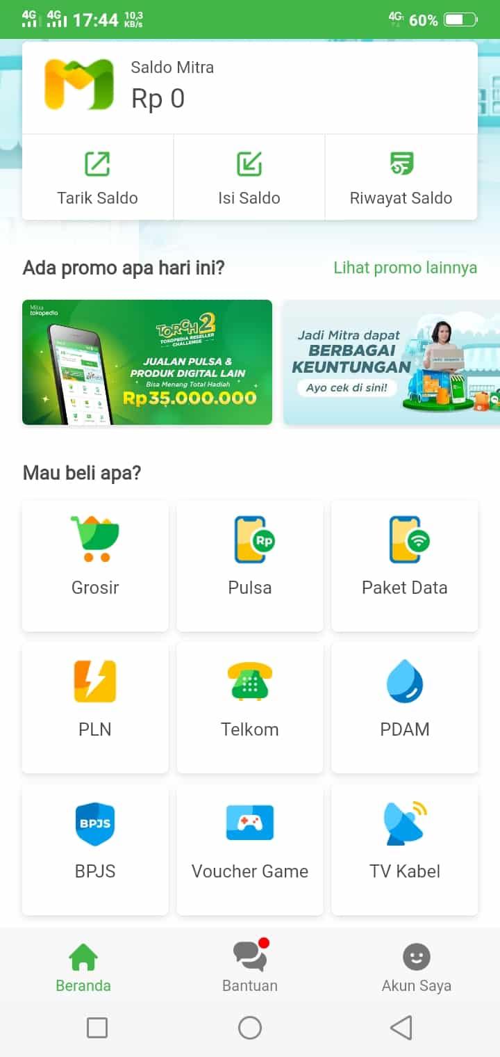 Pada laman utama Tokopedia, klik menu PLN Token Listrik