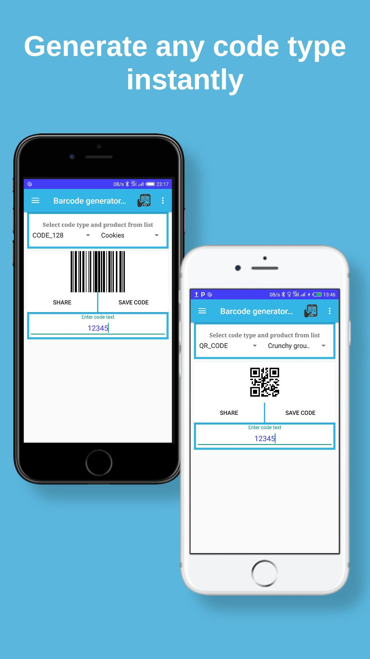 Barcode Generator and Scanner