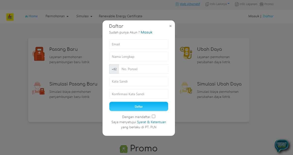 """Cara daftar sebagai pengguna baru yaitu pada menu """"Login"""" tadi, pilihlah tulisan """"Sign Up"""" atau """"Daftar Akun"""""""