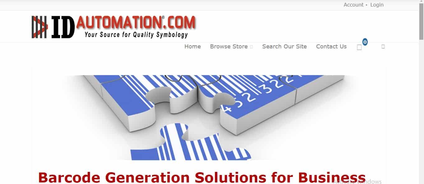 Cara pertama, Anda bisa mengunduh file untuk format barcode melalui laman website IDautomationcom