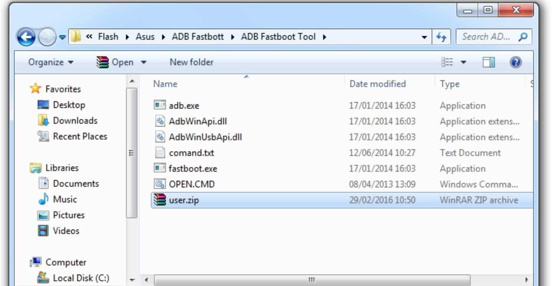 Download dan ekstrak file ADB Fastboot tool, Anda bisa mendownloadnya disini