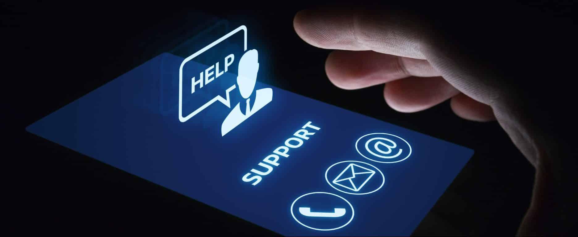 Hubungi Support atau Kirim Email