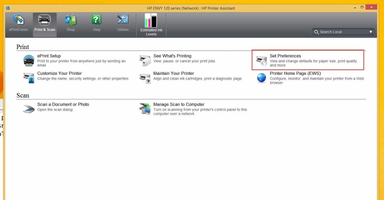 Jalankan aplikasi HP Deskjet