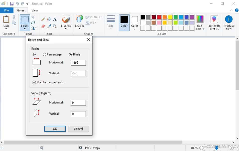 Klik opsi Resize, lalu pilih Pixels