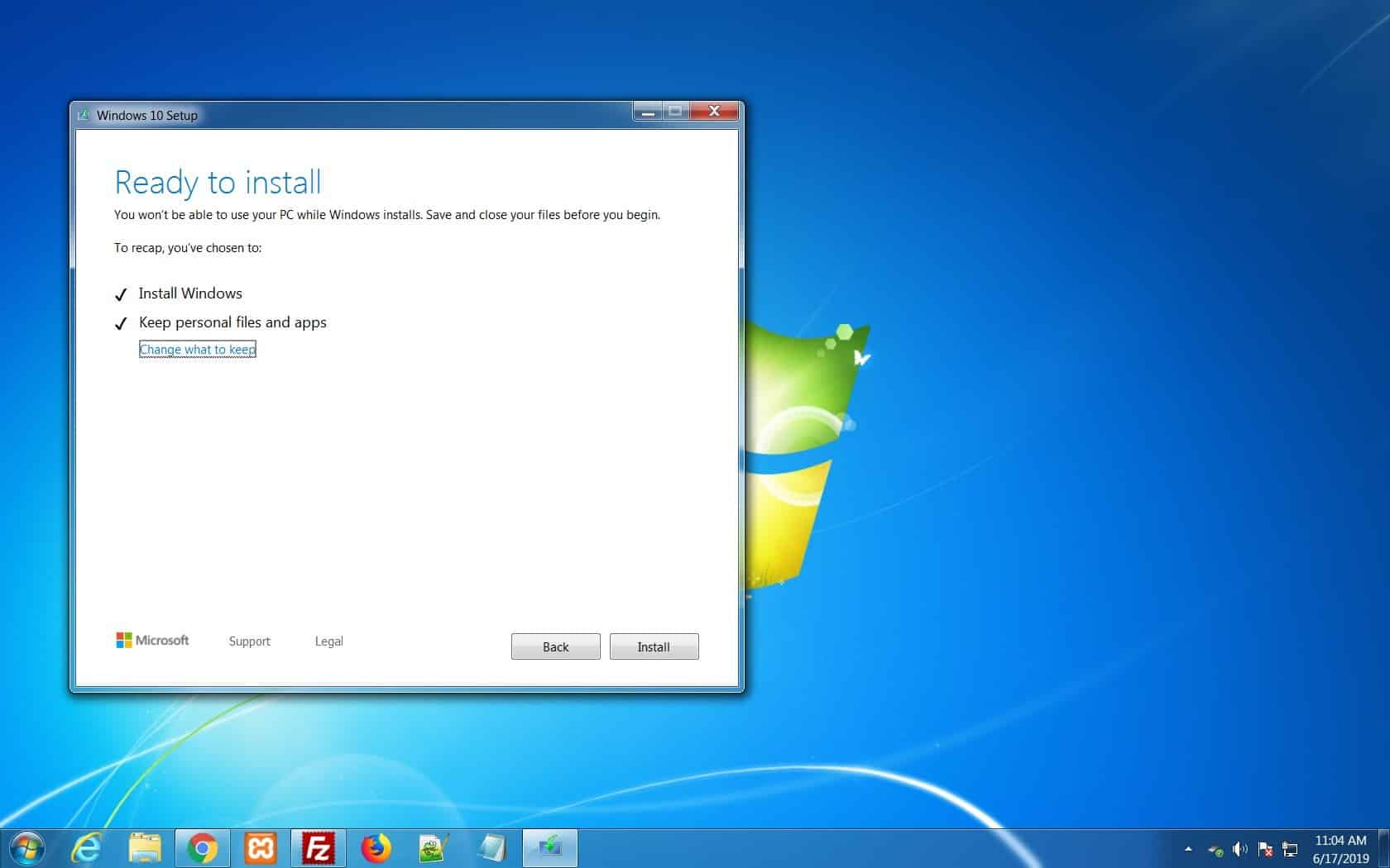 Klik pada pilihan Install Windows Only