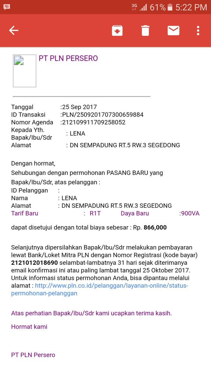 Lewat Email PLN