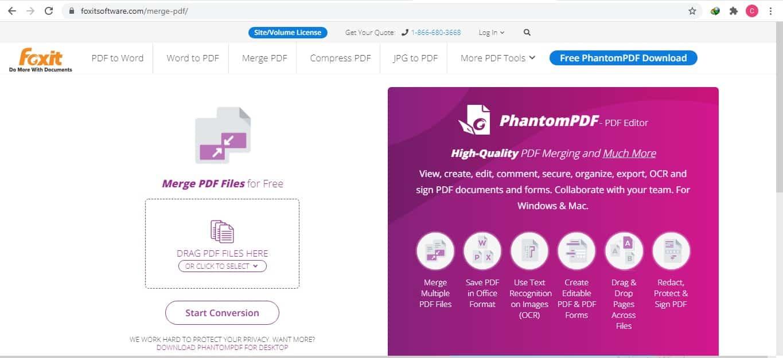 Menyatukan file di Foxit software