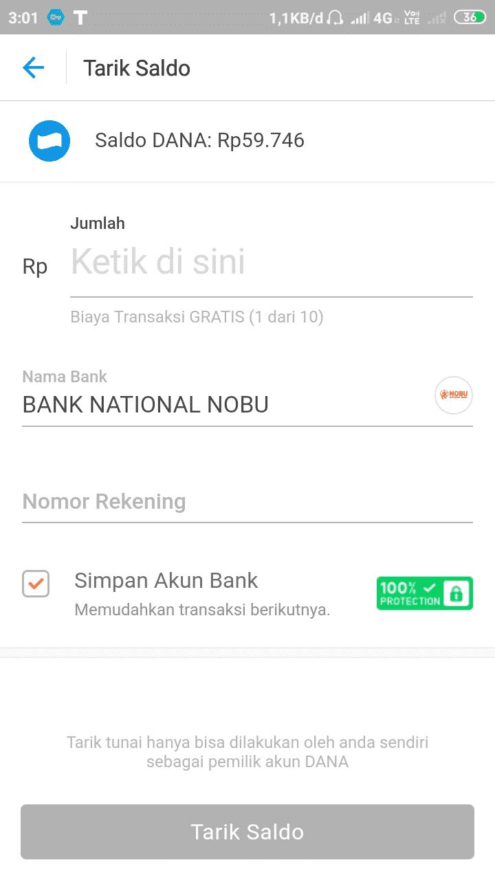 """Pada nama bank, tekan kolom pencarian dan ketik nama """"Nobu Bank"""" atau """"Bank Nobu"""" dan tekan pada nama yang muncul tersebut"""