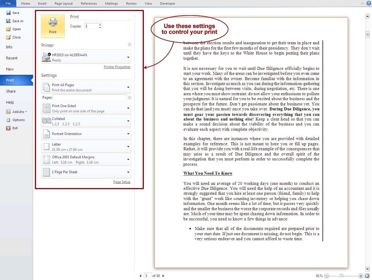 Pilihlah menu cetak atau print, otomatis akan muncul jendela printing yang berisi beragam pengaturan