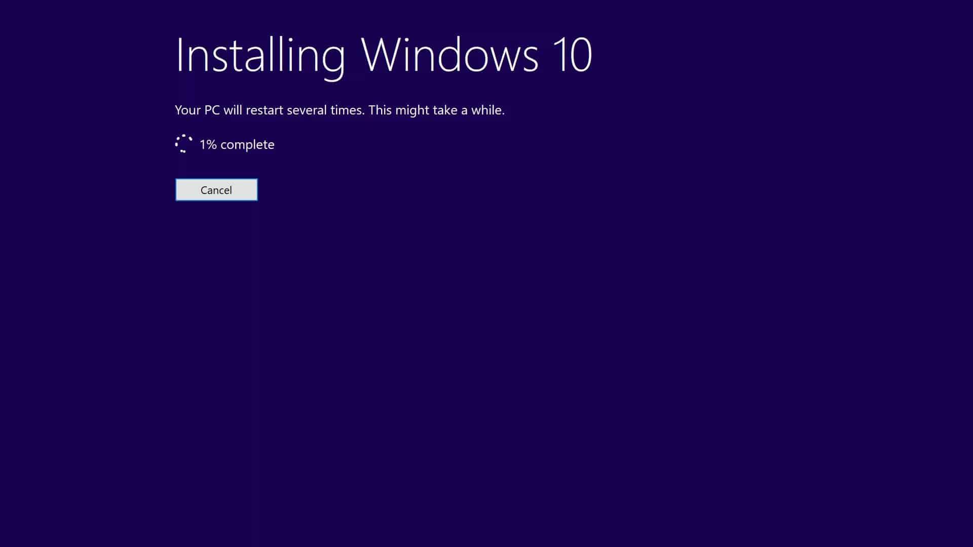 Proses instalasi Windows akan berjalan dan tunggu hingga 30-45 menit untuk menyelesaikan prosesnya