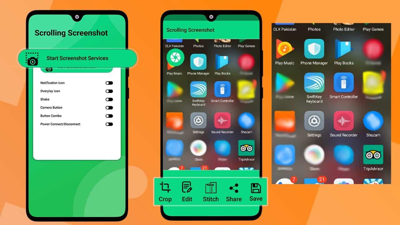 Rolling Screenshot dengan Aplikasi