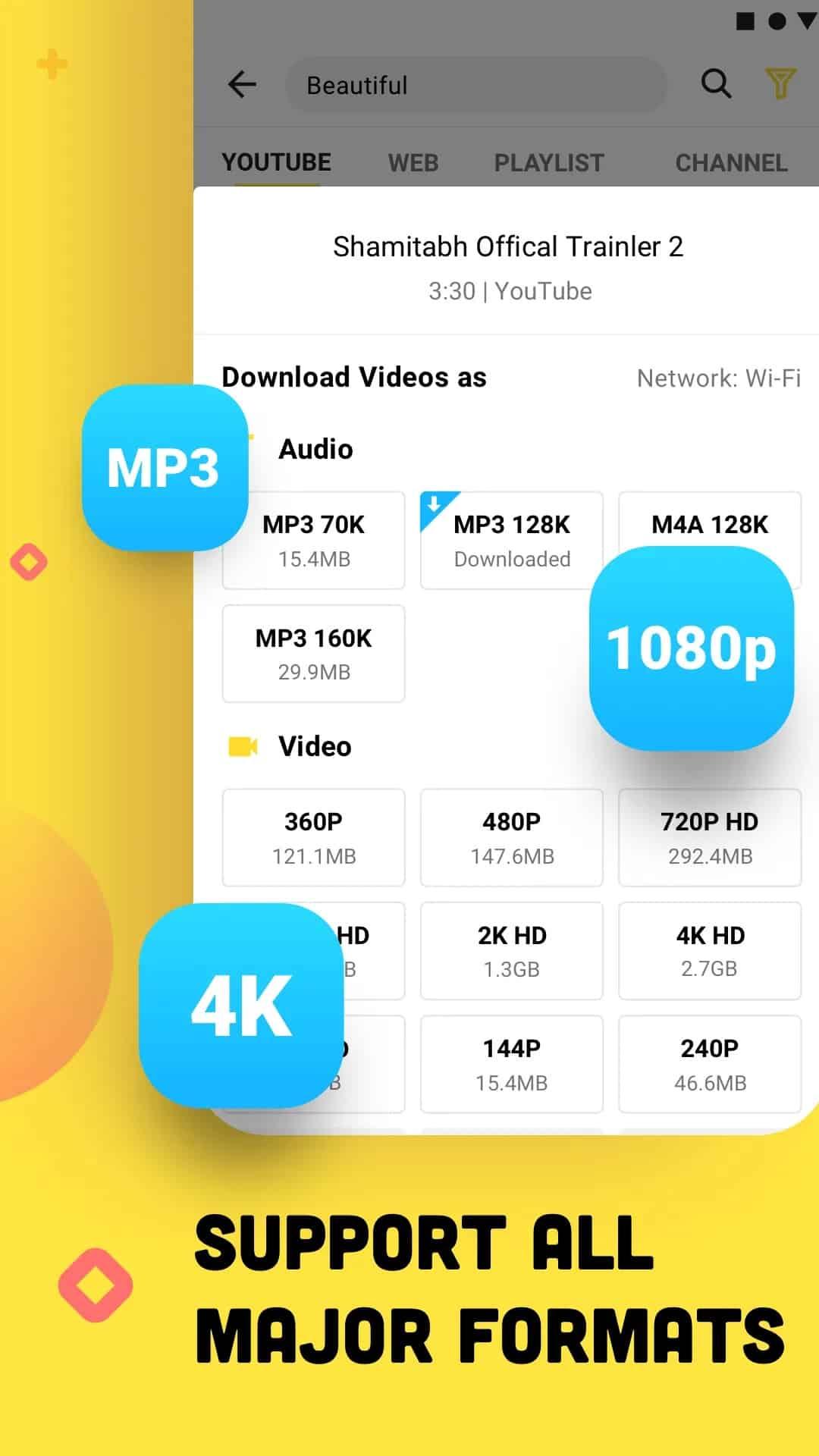 Secara otomatis akan tampil opsi pilihan untuk format MP3 yang bisa Anda unduh pada video tersebut.